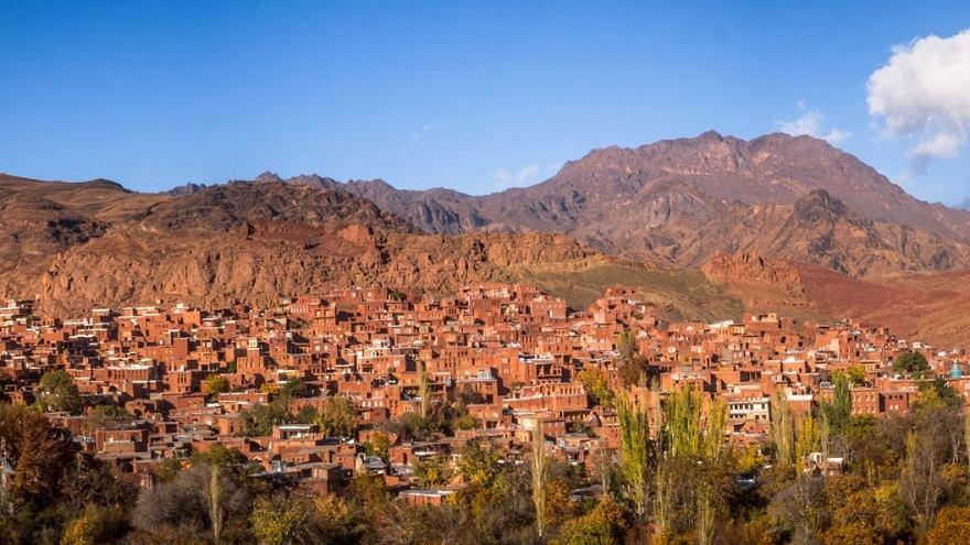Desa dari masa lalu di Abyaneh, Iran