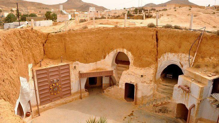 Matmata, kota gua di Tunisia
