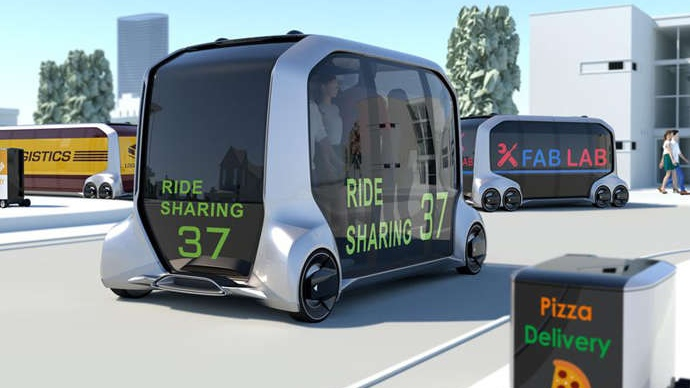 Mobil futuristik bernama e-Palette