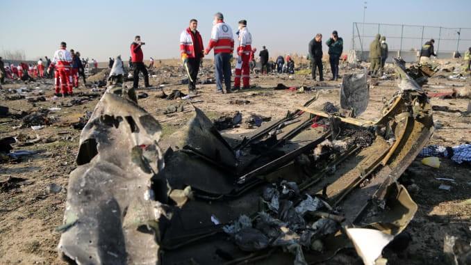 Pesawat Ukraina jatuh menewaskan 180 penumpang dan awak (8 Januari 2020)